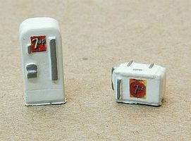 JL Mini Custom Soda Machine Set 7 Up Model Railroad Building Accessory N Scale #634