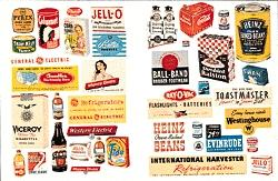 JL Household Posters & Signs 1940s and 1950s Model Railroad Billboard HO Scale #682