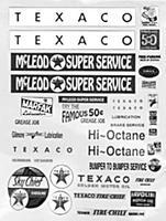 JL Gas Station Posters & Signs 1930s to 1960s Model Railroad Billboard N Scale #684