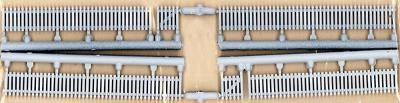 JL Innovative Design Custom Picket Fence Clean White -- Model Railroad Building Accessory -- HO Scale -- #705
