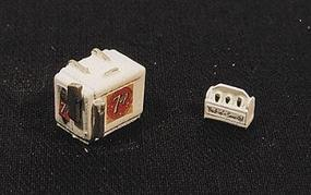 JL Custom Chest Soda Machine and Case 7UP Model Railroad Building Accessory HO Scale #733