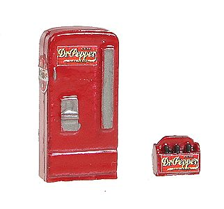 JL Custom Upright Soda Machine/Case Dr. Pepper Model Railroad Building Accessory HO Scale #742