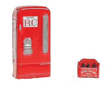 JL Upright Soda Machine/Case Royal Crown Model Railroad Building Accessory HO Scale #745