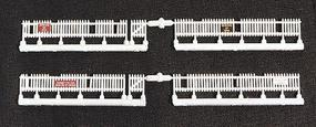 JL Custom Weathered Picket Fence 11 (2) Model Railroad Building Accessory HO Scale #805