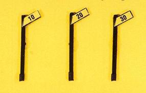JL Custom Slow Speed Signs/Angled Style (3) Model Railroad Trackside Accessory HO Scale #843