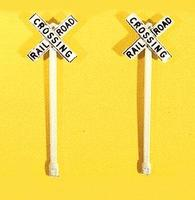 JL Custom Railroad Crossbuck Signs (2) Model Railroad Trackside Accessory HO Scale #845