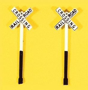 JL Custom Deluxe Railroad Crossbuck Signs Model Railroad Trackside Accessory HO Scale #846