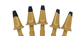 JL Highway Cones 1950s Mustard Yellow w/Black Tops Model Railroad Road Accessory HO Scale #897