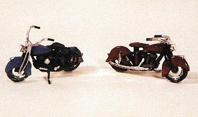 JL Motorcycles Classic 1947 Model Metal Kit Model Railroad Road Accessory HO Scale #902