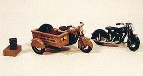 JL Motorcycles Classic 1947 Model Metal Kit Model Railroad Road Accessory HO Scale #905