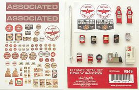 JL Ultimate Flying A Gas Station Detail Set HO Scale Model Railroad Accessory #949