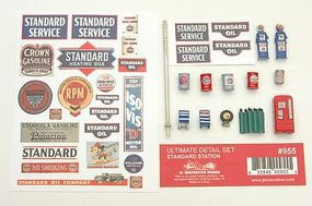 JL Ultimate Detail Set Standard Gas Station Model Railroad Building Accessory HO Scale #955