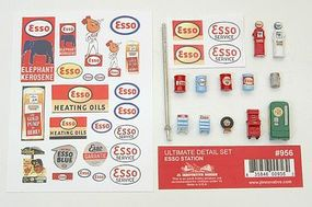 JL Ultimate Detail Set Esso Gas Station Model Railroad Building Accessory HO Scale #956