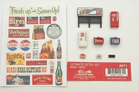 JL Ultimate Detail Set Soda Soda Jerk Model Railroad Building Accessory HO Scale #971