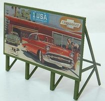 JL Custom Billboard 1950s Auto Model Railroad Sign HO Scale #978