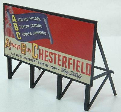 JL Innovative Design Custom Billboards 1940s Tobacco -- Model Railroad Sign -- HO Scale -- #980