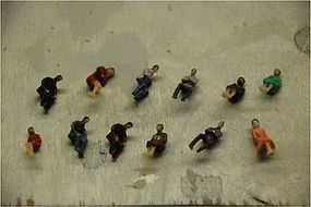 JMD Seated People (6 Pack) HO Scale Model Railroad Figure #401