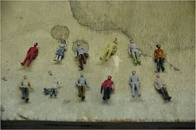 JMD Standing People (6 Pack) HO Scale Model Railroad Figure #402