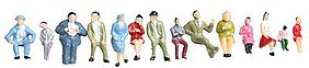JMD Seated People (250 Pack) HO Scale Model Railroad Figure #405
