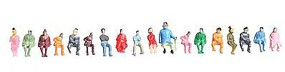 JMD Seated People (100 Pack) N Scale Model Railroad Figure #416