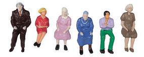 JMD Seated People (6 Pack) O Scale Model Railroad Figure #425