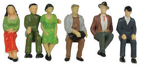 JMD Seated People (6 Pack) G Scale Model Railroad Figure #435
