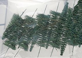 JMD Evergreen Pine Trees Grass Green 6 10'' (10 Pack) Model Railroad Trees #504