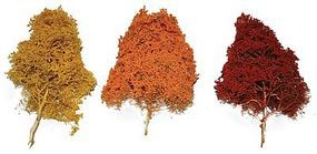JMD Fall Deciduous Trees - Red Autumn 6 - 10 (10 Pack) Model Railroad Trees #511