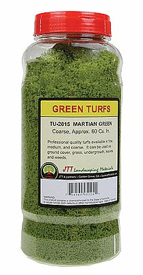 Martian Green JTT Scenery Products Green Turf Medium//30 Cubic Inch