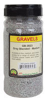 JTT Gravel Gray Blend Medium 350 gram Shaker Model Railroad Ground Cover #95323