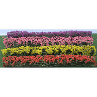 JTT Flower Hedges Red, Pink, Yellow, Purple HO Scale Model Railroad Scenery #95510