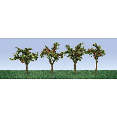 JTT Miniature Tree Apple Tree Saplings -- HO Scale Model Railroad Tree -- #95517