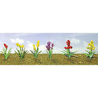 JTT Assorted Flower Plants - Set #2 HO Scale Model Railroad Flower #95559