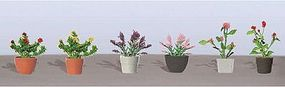JTT Assorted Potted Flower Plants - Set #1 O Scale Model Railroad Flower #95566