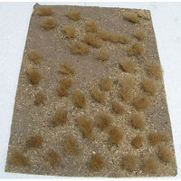 JTT Grassland Mat (Earth Base w/Grassy Tufts) Golden Model Railroad Grass Mat #95603