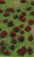 JTT Flowering Meadow Mat Red Sheet Model Railroad Grass Mat #95604
