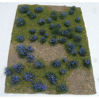 JTT Flowering Meadow Mat - Purple Sheet Model Railroad Grass Mat #95606