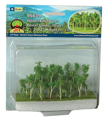 JTT Woods Edge Trees, Pastel Green 2-2.5 (20)