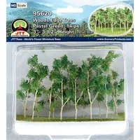 JTT Woods Edge Trees, Pastel Green 3-3.5'' (14)