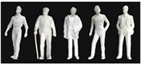 JTT 1-48 Male Figures, White (5)