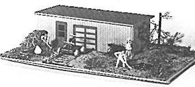 JV Motor Car House (2) N Scale Model Railroad Building #1006
