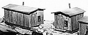 JV Bunkhouses Wood Kit (2) N Scale Model Railroad Building #1011