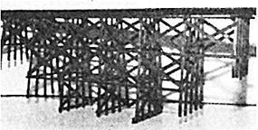 JV Timber Trestle Bridge Kit N Scale Model Railroad Bridge #1014