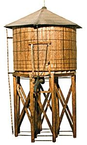 JV Models Branchline Wood Water Tower Kit -- HO Scale Model Railroad Building -- #2012