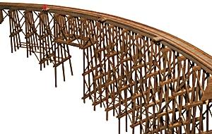 JV Models Curved Trestle Bridge - HO-Scale