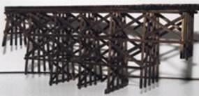 JV Timber Trestle Bridge (Builds up to 16 x 18'') O Scale Model Railroad Bridge #4014