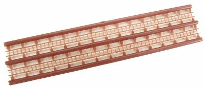 JV Models 55 Scale Foot Ladder -- Dark Brown pkg(2) - N-Scale
