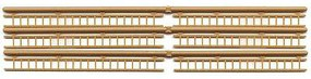 JV Wood Ladder Natl Wood 6/ - HO-Scale (6)