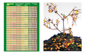JsWorks Multi-Scale Typical Autumn Yellow-Red Small Leaves (Colored Paper)