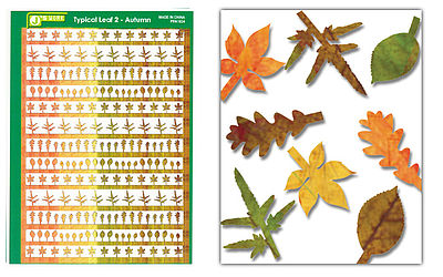 JsWorks Multi-Scale Typical Autumn Yellow-Red Large Leaves (Colored Paper)